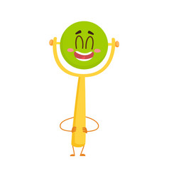 cute and funny baby rattle toy character with vector image