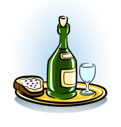 Food and wine icon vector