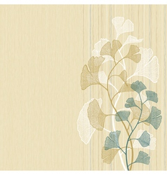 Ginkgo background vector image