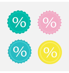 Label sale percent set Flat design vector image