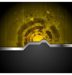 Concept tech background with metal stripe vector