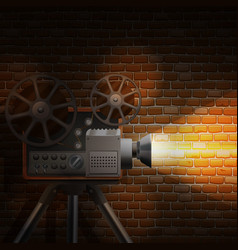 Retro film background vector
