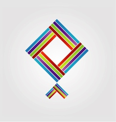 Abstract kite logo for business vector image