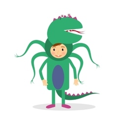 Monster party costume vector