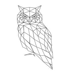 poligonal owl silhouette vector image