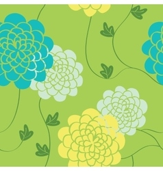Flowers seamless pattern bright colors elements vector