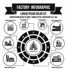 Factory infographic elements simple style vector