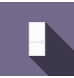 Refrigerator icon flat style vector