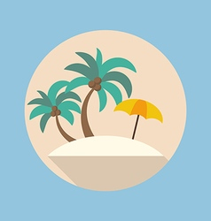 Summer beach flat icon vector