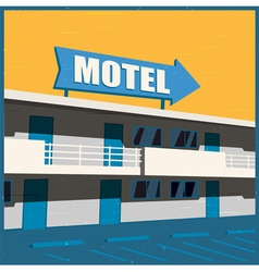 Motel old poster vector