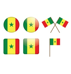 badges with flag of Senegal vector image vector image