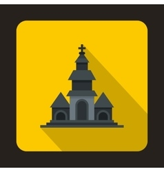 Church icon in flat style vector image vector image