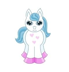 Cute horse fullface vector