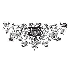 Decorative footer has a flower design vintage vector