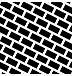 Diagonal Bricks Black White Seamless Pattern vector image