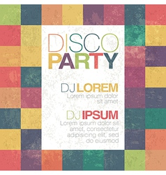 disco retro party flyer template vector image