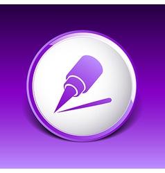eyeliner brush icon pencil makeup girl fashion vector image vector image