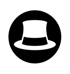 Gentleman hat isolated icon vector