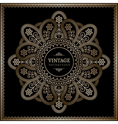 Gold ornamental background vector image vector image