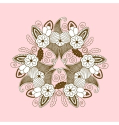 lace pattern with paisley floral elements vector image vector image