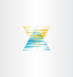 letter x scratch logo icon symbol vector image