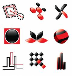 logos and design elements vector image vector image