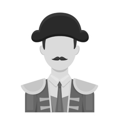 Matador icon in monochrome style isolated on white vector