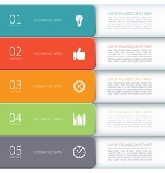 Modern minimal design infographic template vector image vector image