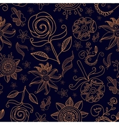 Pattern Flowers14 vector image vector image