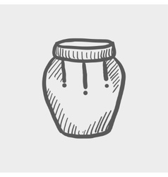 Percussion instrument sketch icon vector