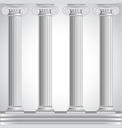 Roman columns isolated on white background vector