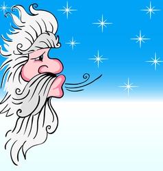 Santa claus blowing wind vector