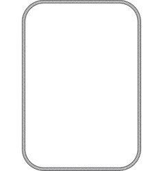 Simple marine frame vector image vector image