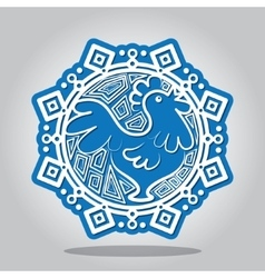 Snowflake of the Rooster on the Chinese zodiac vector image vector image