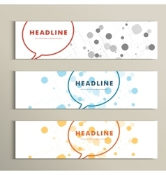 speech bubble on white background with circles vector image