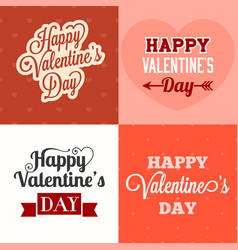 typographic happy valentines day vector image vector image