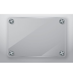 Glass frame with screws vector image