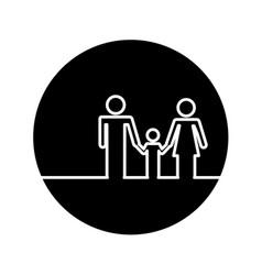 Healthcare family silhouette icon vector