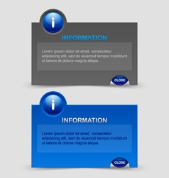 Information notification windows vector image