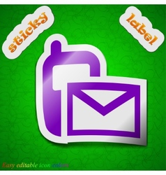 Mail  sms icon sign symbol chic colored sticky vector