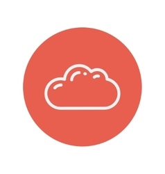 Cloud thin line icon vector