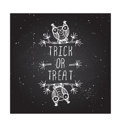 Trick or treat on chalkboard background vector