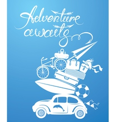 Adventure awaits card 1 380 vector