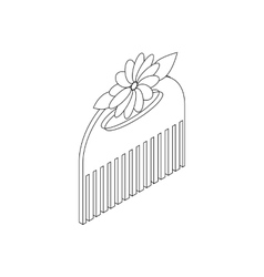 Comb for hair icon isometric 3d style vector