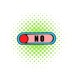 Toggle switch in no position icon comics style vector