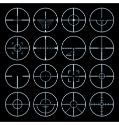 cross hairs set vector image
