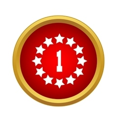 First place icon in simple style vector