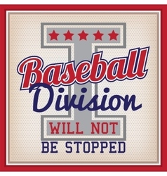 Baseball division badge vector