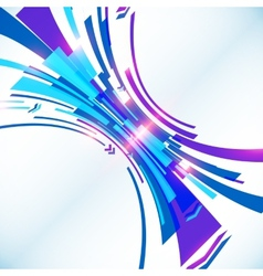 Blue abstract futuristic background vector image vector image