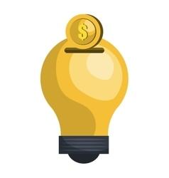 Bulb or big idea graphic design vector